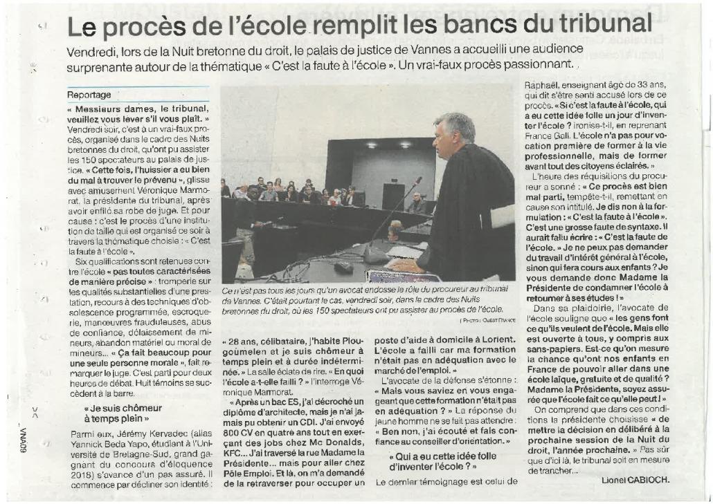 Article Ouest France 6 X 19 2 Pdf