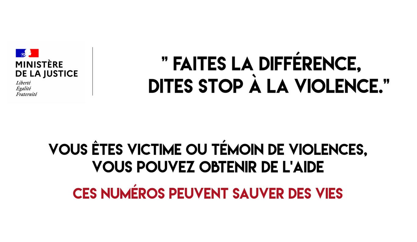 Faites la différence, dites stop à la violence